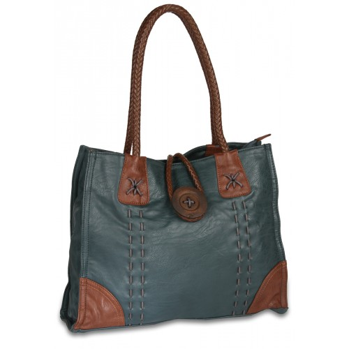 Blue coloured, non-leather handbag for women from Kiara.