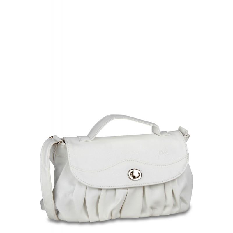 Fancy White Grab Handbag By P H A T
