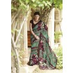 Chiffon Multicolor colour Designer Sarees