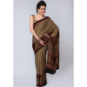 Aalya Printed Crepe Multi Colored Saree