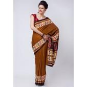 Aalya Printed Crepe Multi Colored Saree