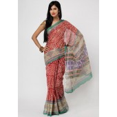 Aapno Rajasthan Printed Cotton Multi Colored Saree