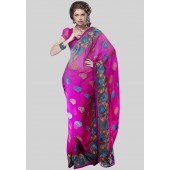 Adaa Embroidered Pink Saree - Mksp