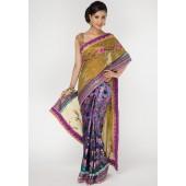 Ambica Embroidered Georgette Multi Colored Designer Saree