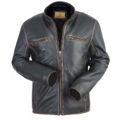 Bareskin New Black Leather Biker Jacket