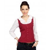 Bedazzle Red Cotton Full Sleeves Top