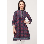 Blue coloured kurti for women by Biba.