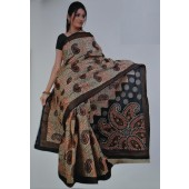 Black and Cream colour Bombay Cotton Sarees
