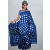Blue Casual Saree in Cotton Material