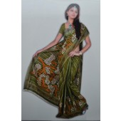 Bombay Cotton Sarees for office wear with Light green