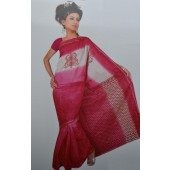Bombay Cotton Sarees for office wear & Pink Color