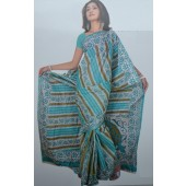 Bombay Cotton Sarees in sky Blue