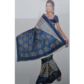 Bombay Cotton Sarees with sky color