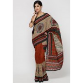 Chhabra Xclusive Printed Crepe jacquard Multi Color Saree