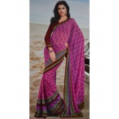 Chiffon Pink colour Saree