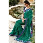 Chiffon designer saree with resham border embroidery