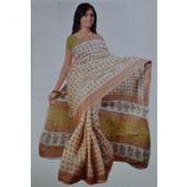 Cream colour Bombay Cotton Sarees