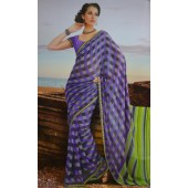 Dana Chiffon Purple colour Saree