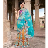 Designer Sarees With Net material