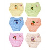 Esteem Multi Color Cotton Infant Innerwear Pack Of 6
