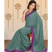 Georgette saree with pineapple flavor