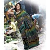 Green and multi color sarees