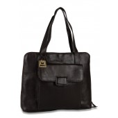 Hidesign Brown Leather Handbag [ Front View ]