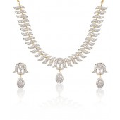 Jewels Galaxy Imperial American Diamond Studded Necklace Set