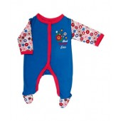 Kidstudio Blue Sleep Suit For Baby Girls