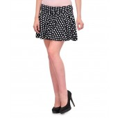 Klick Black Viscose Solids Women's Skirt