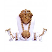 Lucky Jewellery Stunning Maroon Bridal Set