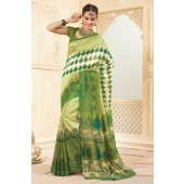 Mehendi green casual saree