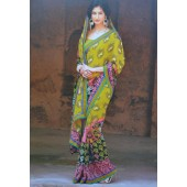 Mehendi Green colour Chiffon Casual Sarees