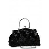 Black coloured clutch for women by Miss Bennett.