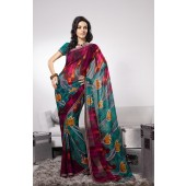 Multi color with Georgette Saree for Monsoon