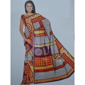 Multi colour Bombay Cotton Material Sarees