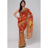 Nirankar Digital Print Pure Silk Georgette Saree