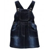 Oye Denim Dungaree Skirt - Dark Blue