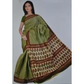 Pastel Green colour Bombay Cotton Sarees