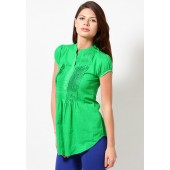 People-Cotton-Leaf-Green-Kurta