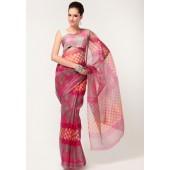 Roop Kashish Super Net Cotton Fuschia Saree