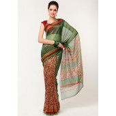 Roop Kashish Super Net Cotton Green Saree