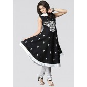 Black and white coloured suit set for women from Sareez.