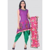 A purple coloured suit set for women by Sareez.