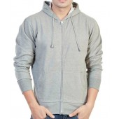 Paul Jackson Light Gray Modern Sweatshirt with Hoodie