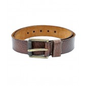 Lino Perros Brown Cracked Finish Belt