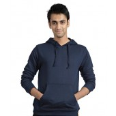 Campus Sutra Blue Hooded Sweatshirt