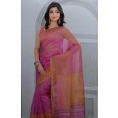 Soft Cotton Pink colour Sarees