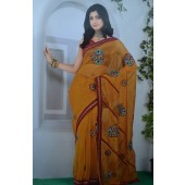 Soft Cotton Yellow colour Sarees
