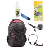 SonyBlack Laptop Backpack with Mouse, Pc headset,keyboard protecter & Screen Cleaner combo